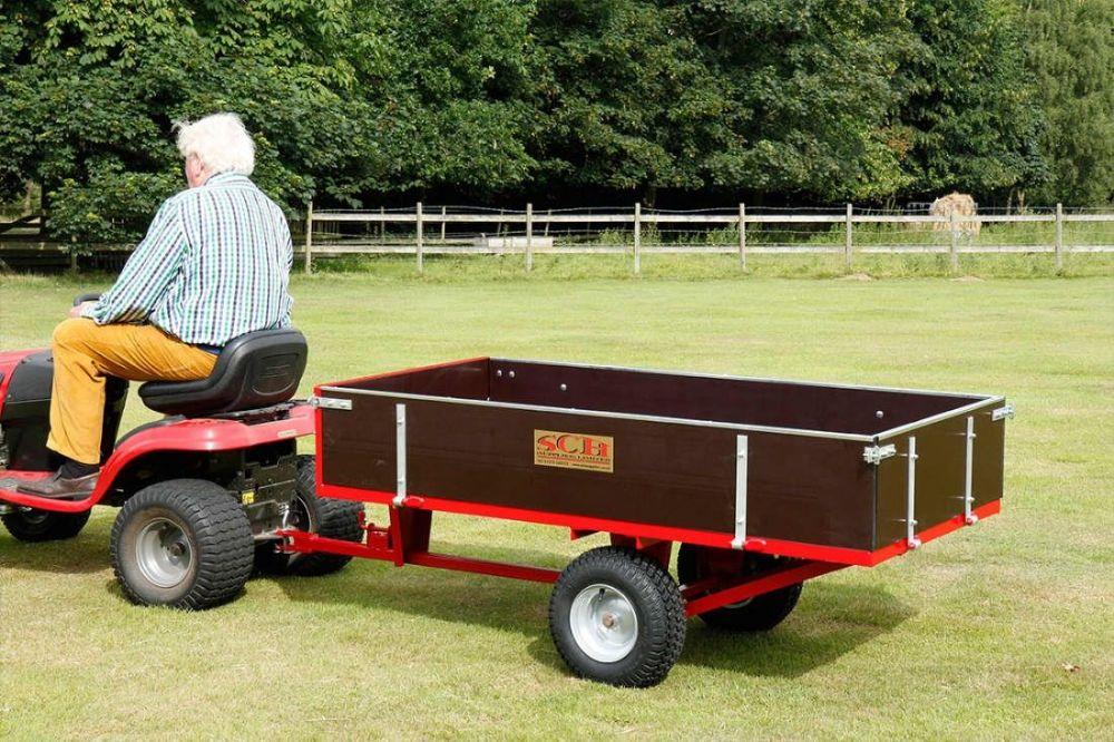 Two Wheel Timber Tipping Trailer 760kg capacity